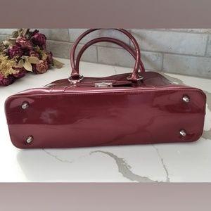 Beijo Bags - BEIJO maroon patent purse